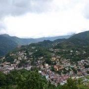 Thị trấn sapa nhìn từ trên cao